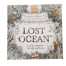 HengSong Secret Garden Lost Ocean And Coloring Book English 12pages
