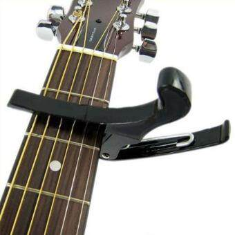 leegoal Premium Quick Change Folk Acoustic Electric Guitar Banjo Capo Key Clamp,Black