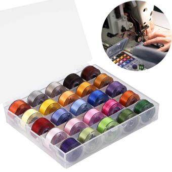 25 Pcs Machine Bobbins Sewing Thread for Brother/ Babylock/ Janome/Kenmore/ Singer