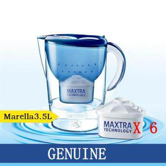 3.5L Germany Filter Brita Kettle Marella Blue Water Bottle WaterPurifier with 6 Maxtra Water Filters Replacement Filters &Parts