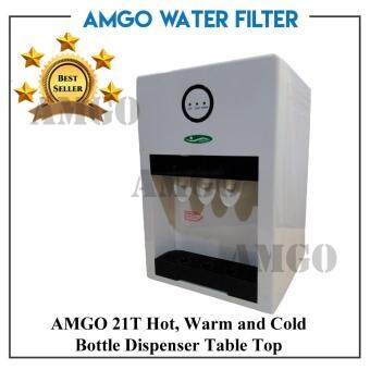 AMGO 21T Hot,Warm And Cold Table Top Water Dispenser Bottle Type