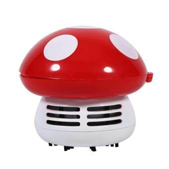 Cute Mini Mushroom Shape Laptop keyboard Desktop Keyboard CornerDust Vacuum Cleaner Sweeper New (Red)