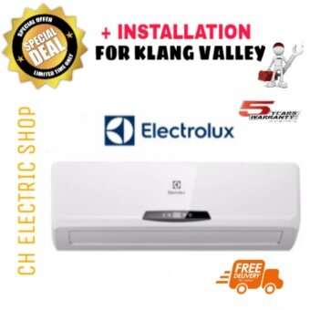ELECTROLUX AIR CONDITIONER WALL TYPE 2 HP - ESM18CRI-B1 (R410) - NON-INVERTER ( FREE SHIPPING AND INSTALLATION FOR KLANG VALLEY)