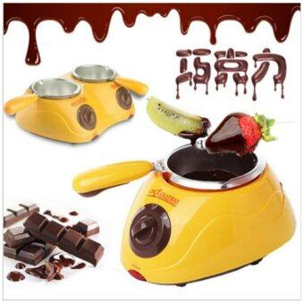 Hot Sale Electric Chocolate Fountain Fondue Singer Chocolate MeltPot melter Machine Yellow&Pink