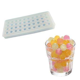 niceEshop 40 Ice Cube Trays, Silicon Ice Mold Tray Candy ChocolateSilicone Molds Mini Ice Ball Maker Party Maker, Round, White