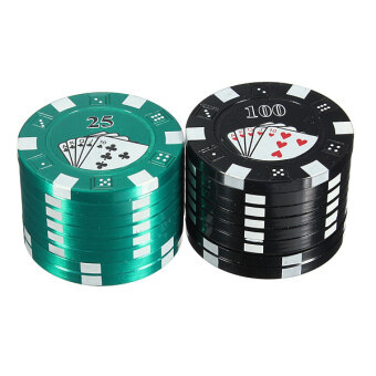 Poker Chip 3 Layers Tobacco Herb Grinder