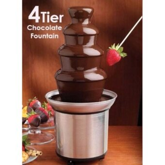 Samtrick 4-Tier Capacity Stainless Steel Chocolate Fondue Fountain
