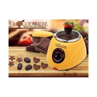 Samtrick Electric Chocolate Fountain Fondue Chocolate Melt PotMelter Machine Yellow