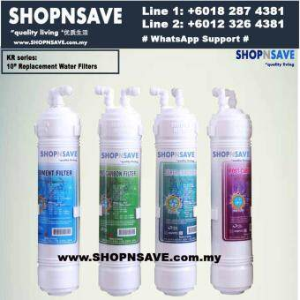 SHOPNSAVE Purisys Korea Water Filters, *KR series replacement water filters, Korea Water Filter Purifier, Remove Chlorine, bacteria and odor taste, 4 Water Filter, Water Purifier, U type