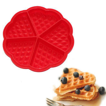 Silicone Waffle Mold Maker Pan Microwave Baking Cookie Cake MuffinBakeware Cooking Tools Kitchen Accessories