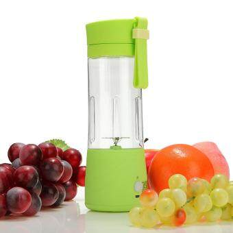 USB Mini Electric Fruit Juicer Handheld Smoothie Maker Blender Juice Cup 380ml Green
