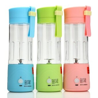 USB Mini Electric Fruit Juicer Handheld Smoothie Maker BlenderJuice Cup 380ml Pink
