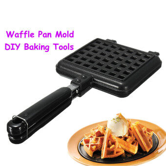 Waffle Pan Press Plate Mold Stove Dessert Pancake Cake Baking DIYShaper Maker