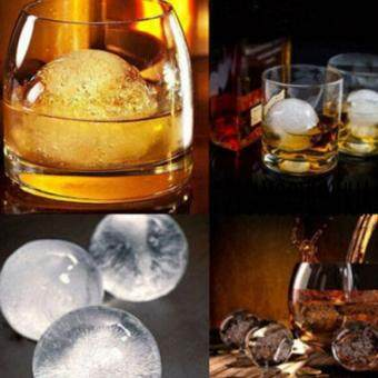 Whiskey Silicone Ice Cube Ball Maker Mold Sphere Mould Party Tray Round Bar (Blue)