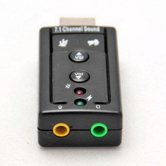 12Mbps USB 2.0 Virtual 7.1-Channel CH 3D Audio Sound Card Adapter-