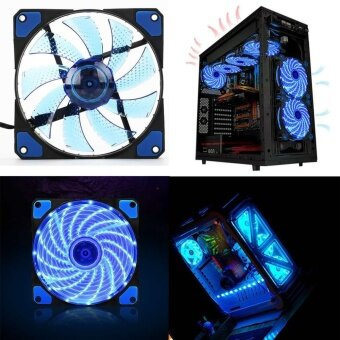 15 LED Light PC Computer Case CPU Cooling Silent Fan Mod Cooler120mm 3 4Pin 12V