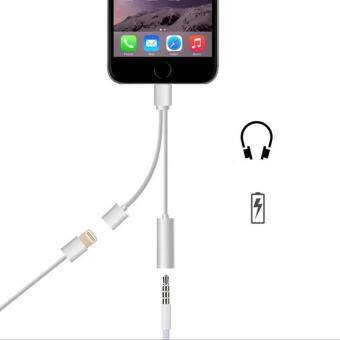 2 in 1 Charging Aux Audio Jack Lightning to 3.5MM Headphone Cable 66s 7 plus