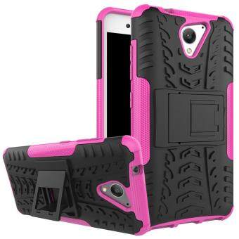 2-in-1 Tyre Pattern Kickstand PC + TPU Hybrid Cellphone Hard Shellfor ZTE Blade A510 - Rose