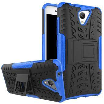 2-in-1 Tyre Pattern Kickstand PC + TPU Hybrid Mobile Phone Case forZTE Blade A510 - Blue
