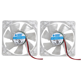 2 X Colorful LED Case Fan 12V 4Pin 80mm 80x25mm For Computer PC CPU Cooling
