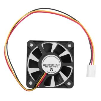 3 Pin CPU 5cm Cooling Cooler Fan Heatsinks Radiator for PC Computer 12V(Black)