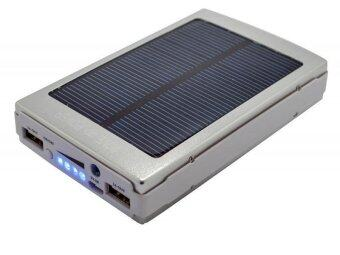 30000Mah Solar Dual Usb Led Light Lithium Polymer Battery Power Bank Silver