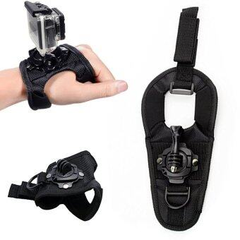 360 Degree Rotation Glove Wrist Band Hand Strap Belt Tripod MountFor GoPro Hero 3 3+ 4 SJCAM SJ4000 SJ5000 SJ6000