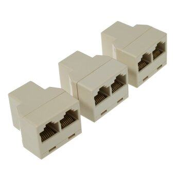 3pcs / Pack RJ45 CAT5 Ethernet Cable LAN Port 1 to 2 SocketSplitter Connector