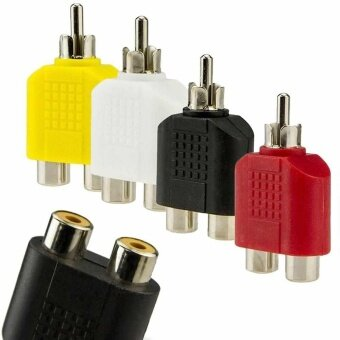 4x RCA Y 1-Male to 2-Female Splitter AV Audio Video Plug ConverterCable Adapter