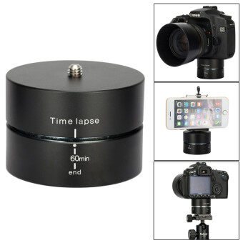 60 Minutes 360 Degrees Panning Rotating Tripod Adapter Time LapseStabilizer