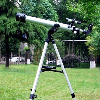 700/60mm Refractive Astronomical Telescope with Portable TripodSpotting Scope Outdoor Monocular Astronomical Telescopes(Silver)
