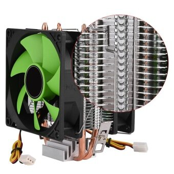 90mm 3Pin Dual-sided Fan CPU Cooler Heatsink Quiet for IntelLGA775/1156/1155 AMD AM2/AM2+/AM3