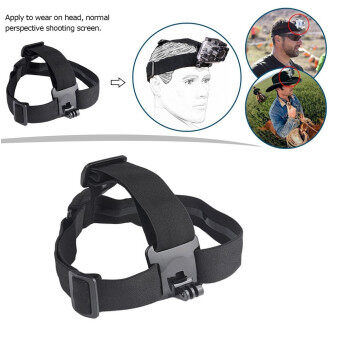 Action Camera Elastic Harness Head Strap Mount for Gopro Hero 5 4 3Session Xiaomi Yi 4K Eken H9 SJCAM SJ4000 Accessories