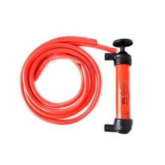 Allwin Car Multi Use Water Oil Fuel Pump Transfer Liquid PipeSiphon Tool Pump Kit Red