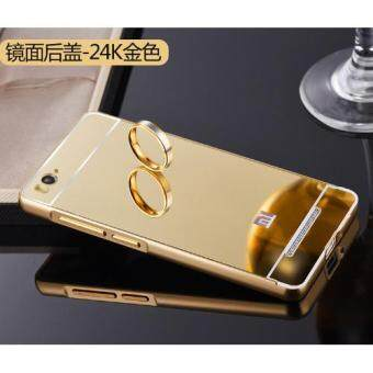 Aluminum Mirror Metal Bumper Case Cover for Xiaomi Mi 4i (Gold)