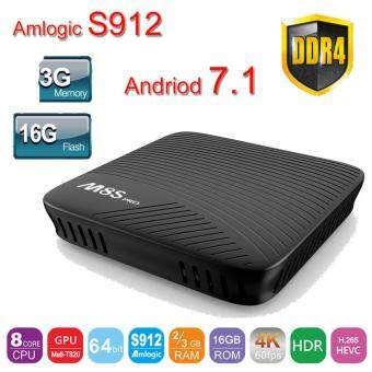 Andriod 7.1 Amlogic S912 mecool M8S Pro android TV Box 3G 16GB DDR4 2.4G/5G WiFi BT4.1 OTA M8S pro media player