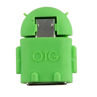 Android Robot Micro USB Host OTG Adapter Cable(Green)