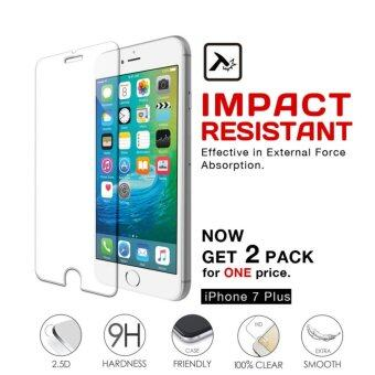 Apple iPhone 7 Plus / iPhone 8 Plus / iPhone7 Plus / iPhone8 Plus / iPhone7Plus / iPhone8Plus Premium 9H 0.3mm 2.5d Tempered Glass Screen Protector (5.5 inch) - 2 Pack - (Clear)