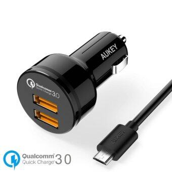 Aukey CC-T8 36W Dual Qualcomm Certified Quick Charge 3.0 CarCharger qc 3.0