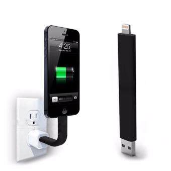 Bendable Rigid iPhone Charger Lightning Cable Stand