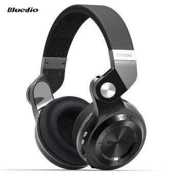 Bluedio T2+ Foldable Style Bluetooth V4.1 +EDR Wireless Stereo Headset Support TF Card with Mic (Black)