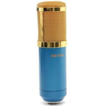 BM800 Condenser Microphone Recording With Shock Mount Kit (Blue)