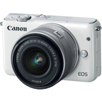 Canon EOS M10 Mirrorless Digital Camera 18MP with 15-45mm Lens (White)