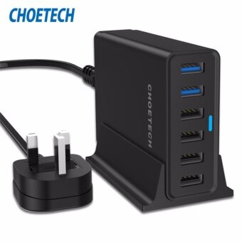 CHOETECH 50W Qualcomm Quick Charge 3.0 6 USB Multi Ports Desktop Charger for iphone 5/6/7 ipad for samsung LG
