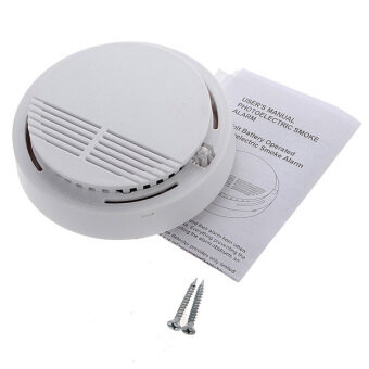 Cordless Smoke Detector Home Security Fire Alarm Sensor System Battery