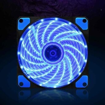 DC 12V 3-4PIN Computer Case Cooling Fan 15 LED 12cm 120mm CPUCooler Mini Cute