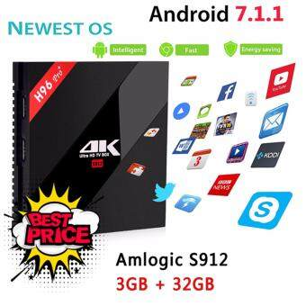 DTD H96 Pro+ Android TV Box 3GB Ram 32G Amlogic S912 Octa Core 4kSet Top Box Andriod 7.1 Dual Wifi Kodi Smart Tv Box