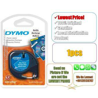 Dymo Letratag Label Maker Tape/Refill Plastic Blue 12mm x 4m(Original) Label Printer Refill