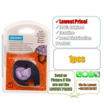 Dymo Letratag Label Maker Tape/Refill Plastic Clear 12mm x 4m(Original) Label Printer Refill