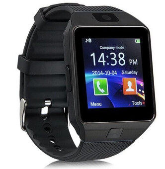 DZ09 Bluetooth Smart Watch Sim insert Anti-lost Call Reminder for Android IOS (Black)